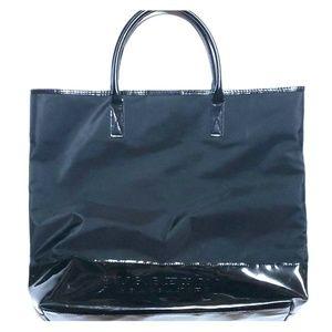Burberry fragrance black tote large bag